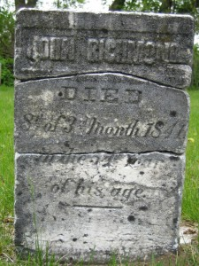 John Richmond gravestone