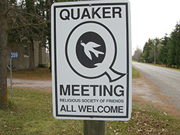 Quaker-Welcome-Sign
