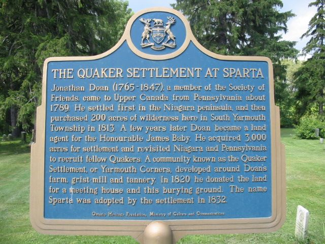 spart quaker plaque