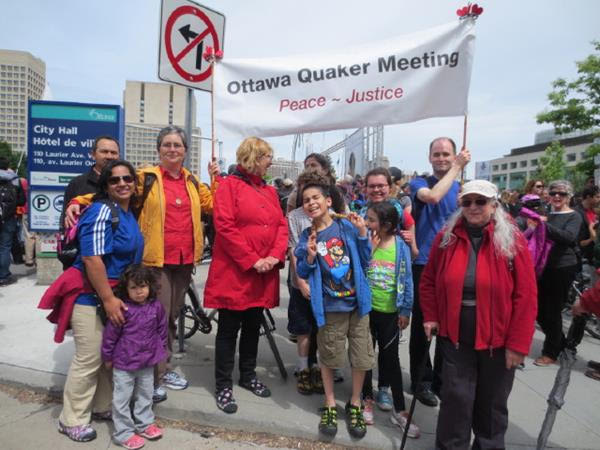 Quakers at the Walk for Reconciliation