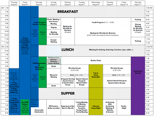 CYM 2018 Schedule