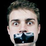 Mouth taped shut