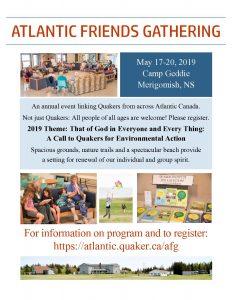 Atlantic Friends Gathering Poster 2019