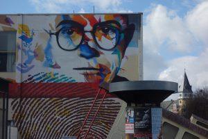 Adorno mural in Frankfurt