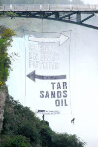 Clean energy future this way - tar sands oil back that way