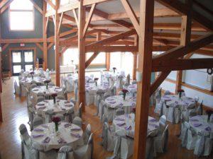 The dining hall at Shekinah